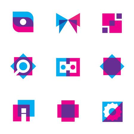 Computer technology simple blue search settings menu button logo icon
