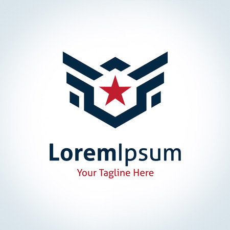 Fly star wings professional business logotype strength logo icon