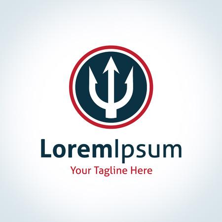 Forza Trident cerchio logo del marchio template vector icon