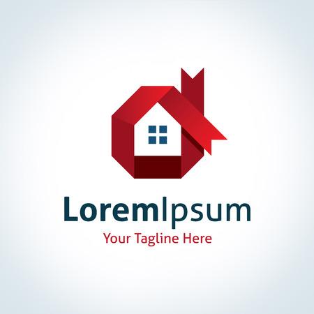 ロイヤル ハウス建設不動産ロゴ アイコンを構築