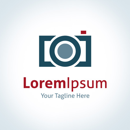 photography logo: Photography professional company lens brand logo icon