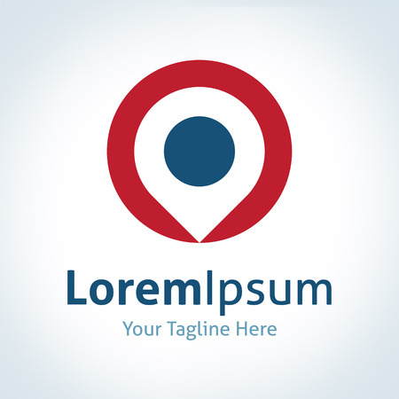 Doellocatie positie van het logo vector plek icoon