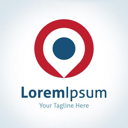 legen: Zielort logo Positionsvektor Ort Symbol