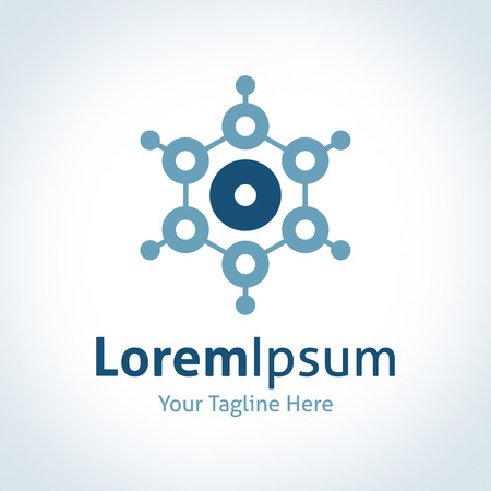 logo informatique: Technologie circuit abstrait de points futuriste intégrer vecteur logo icône