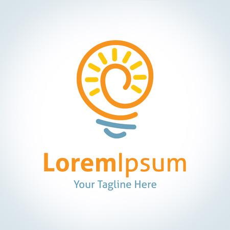 kavram ve fikirleri: Büyük mucit ampul fikir parlayan vektör logo icon