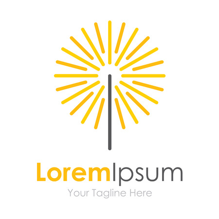 Spark paardebloem bloem pictogram eenvoudige elementen logo Stock Illustratie