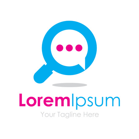 検索話会話泡アイコンを単純な要素ロゴ