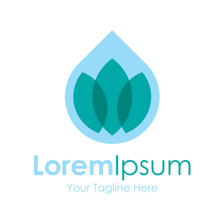 simple logo: Healthy water droplet spa icon simple elements logo