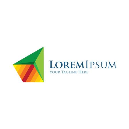 logo marketing: Pyramid geometric design progress icon simple elements