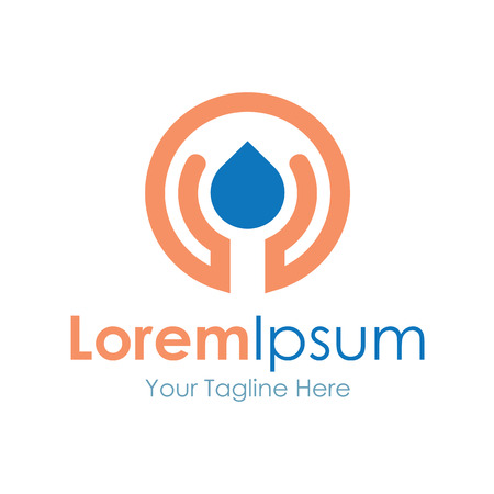 logo informatique: les enfants de tr�sor de vie aident soins icon �l�ments simples Illustration