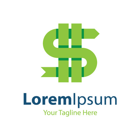 logo informatique: L'argent fou green dollar signe icon �l�ments simples Illustration