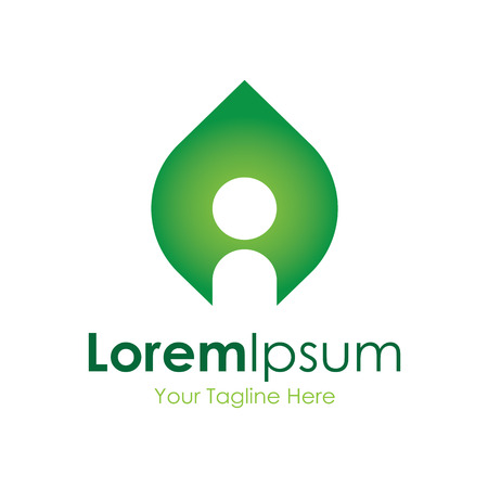 eco logo: Green energy inspiration solutions icon simple elements