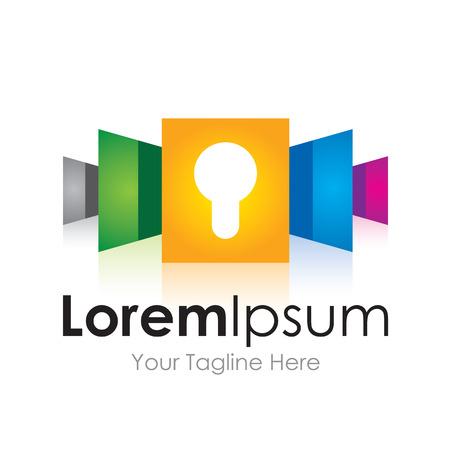 or lock up: Icono de la seguridad del sistema de bloqueo hacia arriba creativo elementos simples