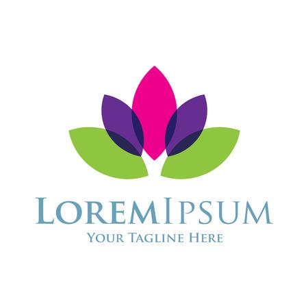 スイレン美しい lotos 花アイコンの単純な要素  イラスト・ベクター素材