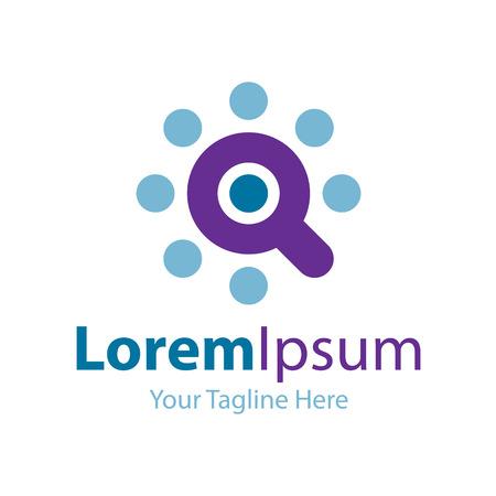 logo marketing: Optimum search tool icon simple elements