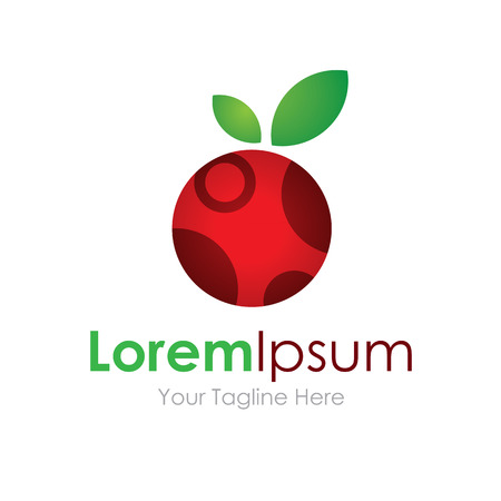logo marketing: Tasty cherry icon simple elements