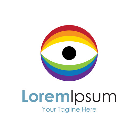 Icono ojo espectro de luz elementos simples Foto de archivo - 35867830