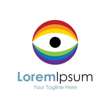 Light spectrum eye icon simple elements  Illustration