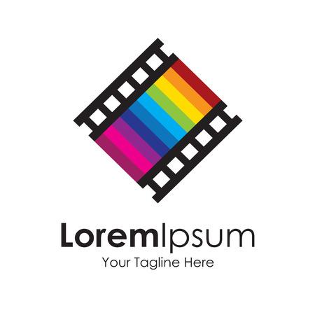 Séptimo arte icono pista de la película amor elementos simples Foto de archivo - 35867717