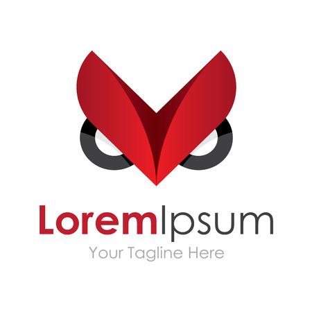 logo marketing: Angry owl get pro icon simple elements logo Illustration