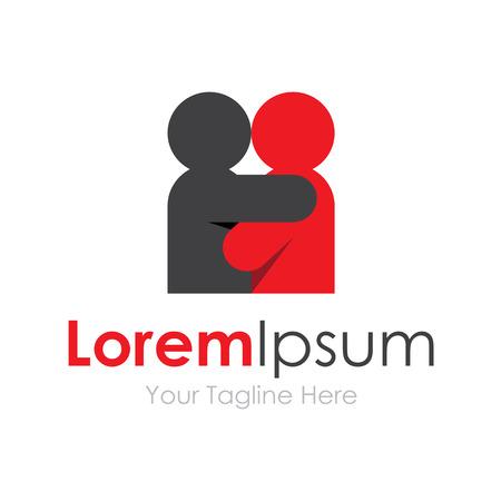 Love couple sharing hug concept elements icon   Illustration