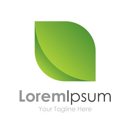 saludable logo: Naturaleza verde hoja elegancia eco elementos conceptuales icono