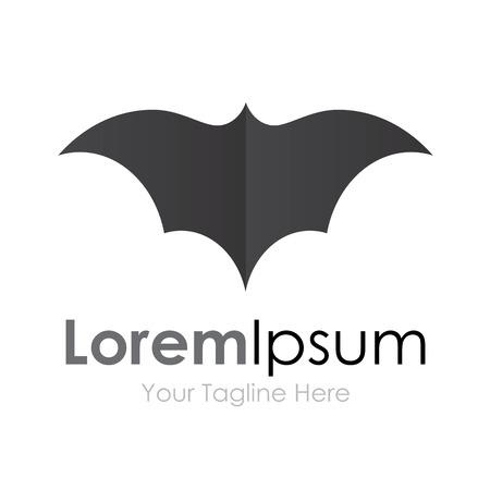 murcielago: Alas abiertas murciélago gris elementos conceptuales icono voladores Vectores