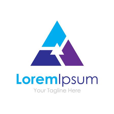 logos empresa: Teamwork tecnología grupo asociación Exitosa elementos conceptuales triángulo icono Vectores
