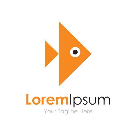 logo poisson: Avance rapide poisson d'or éléments de concept icône