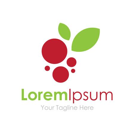 simple logo: Tasty fruit food berrys concept elements icon  Illustration
