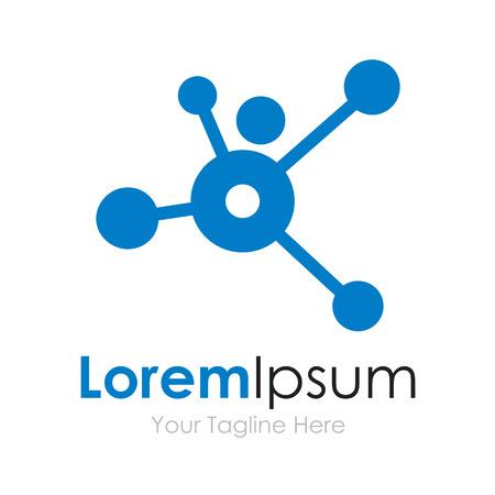 Dots připojen budoucím tech man větve ikonu koncept prvky