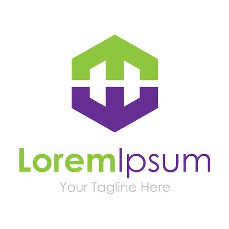 tech logo: Success industry geometric shape concept elements icon logo