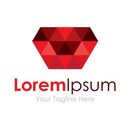 Red unique luxury price gem stone concept elements icon logo