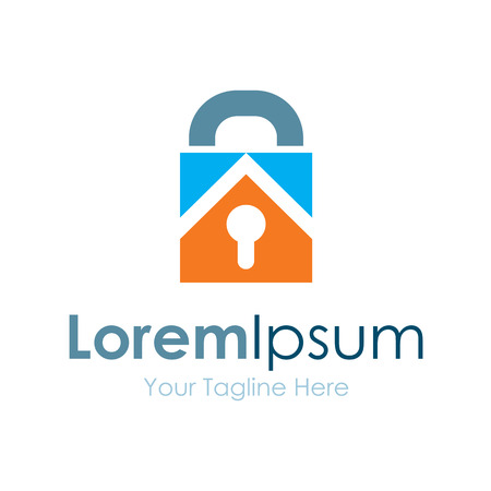 lock concept: Key lock real estate bussiness element icon