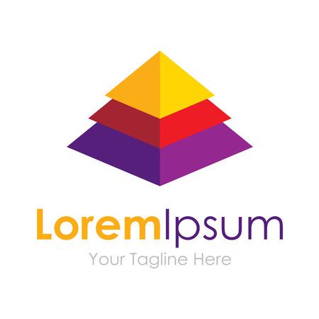 Elegant pyramid multiple layer element icons business