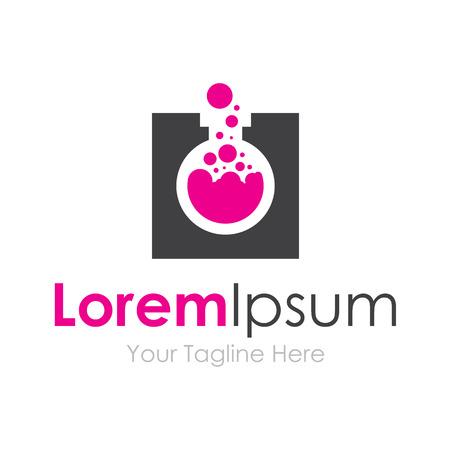 bubbling: Crazy experiment purple liquid test tube element icons business
