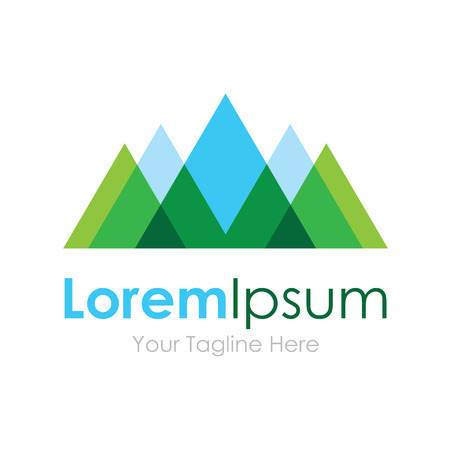 mountain view: Mountain nature eco landscape view element icon for business