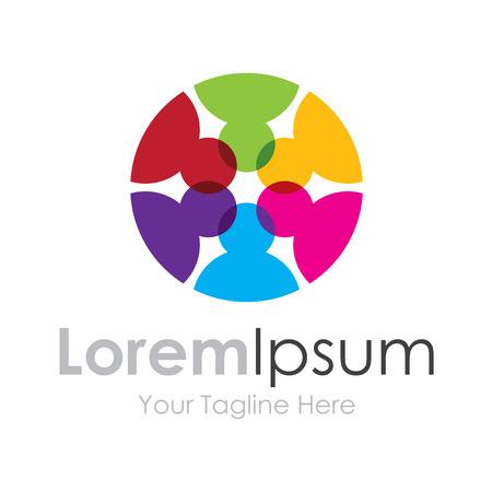 Great minds circle idea graphic design  icon