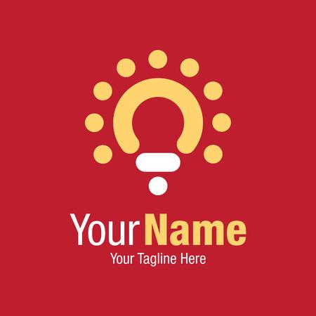 innovator: Red light bulb idea symbol graphic design  icon
