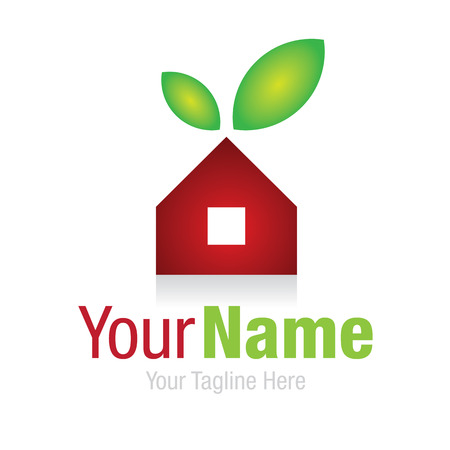 logo marketing: Home sweet home cherry real estate simple business icon logo