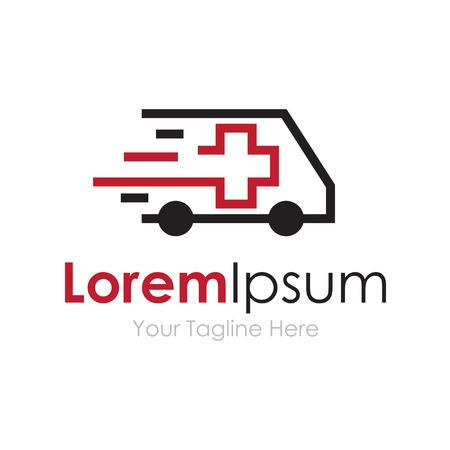 speeding: Ambulance van vehicle speeding simple business icon