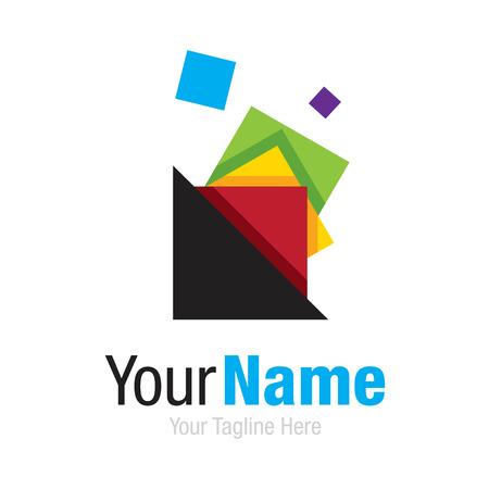 rn: Colorful shape collector business idea shape simple icon  Illustration