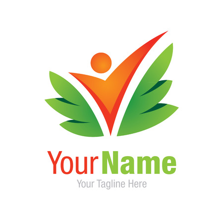 saludable logo: Producto del cuidado m�dico experiencia completa simple icono negocio