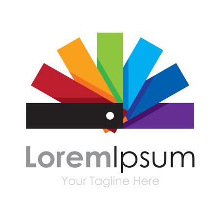 Color palette cute spectrum wheel simple business icon