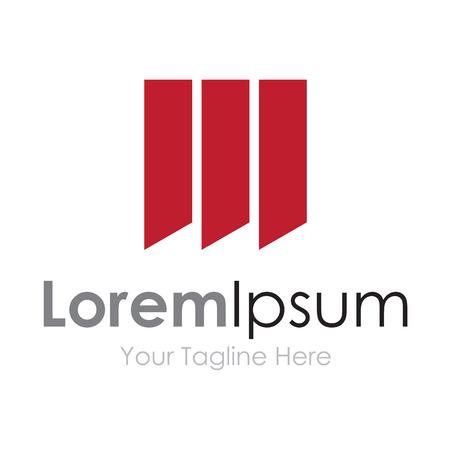 simple logo: Three red stripes elegant simple business icon logo