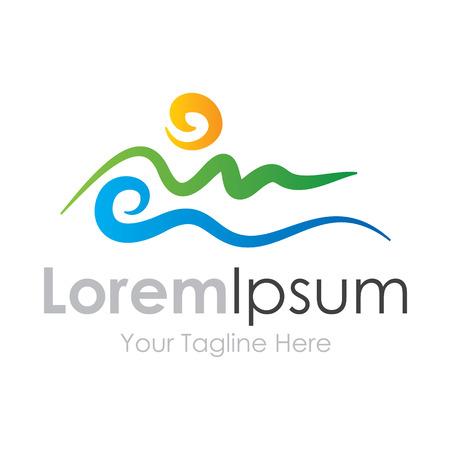 単純な自然ライン描画ビジネス アイコン