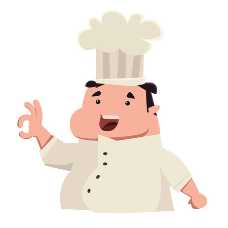 says: Chef says its perfecto vector illustration cartoon character Illustration