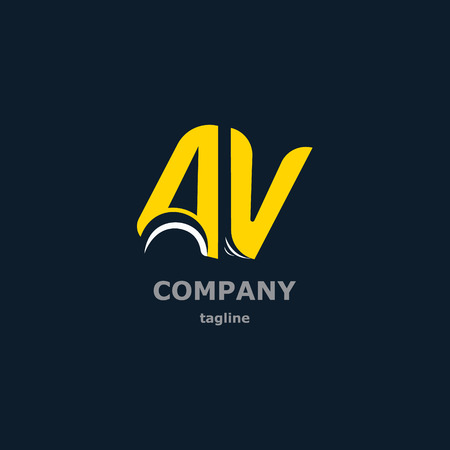The letters A and V for the logo of the company. Vector illustration Illustration