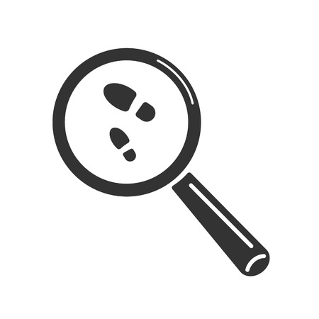 Search symbol. Magnifying glass image that is looking for a track. Vector illustration for web design 向量圖像