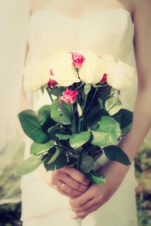 Wedding flowers bride, vintage
